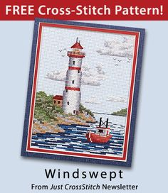 Windswept download from Just CrossStitch newsletter. Click on the photo to access the free pattern. Sign up for this free newsletter here: AnniesNewsletters.com