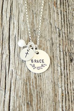 His grace is sufficient. This simple, delicate necklace is a wonderful reminder of the grace He give us. This necklace is a perfect gift for a birthday, baptism, confirmation, or any other religious c