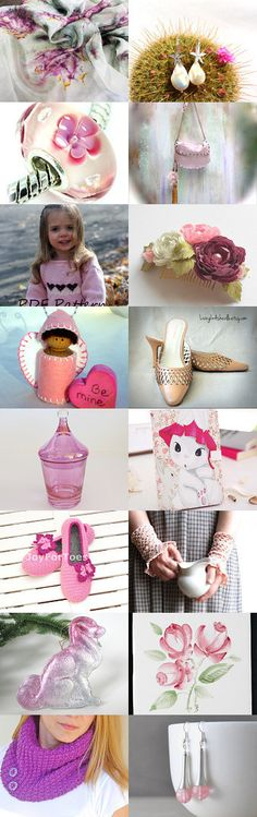 Lovely Shades of Pink by Lori on Etsy--Pinned with TreasuryPin.com