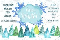 Call of mountains   Pre-Designed Illustrator Graphics ~ Creative Market Watercolor Christmas Tree, Watercolor Trees, Watercolor And Ink, Creative Icon, Creative Sketches, Pencil Illustration, Graphic Illustration, Illustrations, Texture Drawing