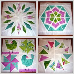 Quiet Play: A paper piecing kind of weekend Pinwheel Quilt Pattern, Free Paper Piecing Patterns, Quilt Block Patterns, Pattern Blocks, Pattern Paper, Quilt Blocks, Bird Patterns, Quilting Tutorials, Quilting Designs