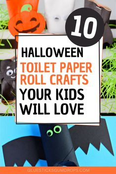 10 Fun Halloween Toilet Paper Roll Crafts Kids Will Love to Make - If you're looking for an easy Halloween craft for the kids, you've found one. 10 of them, actua - Halloween Activities For Kids, Scary Halloween Decorations, Halloween Crafts For Kids, Halloween Party Decor, Holidays Halloween, Halloween Fun, Glue Crafts, Diy Arts And Crafts, Diy Crafts
