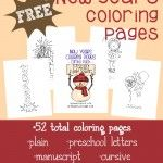 {free} New Year's Coloring Pages