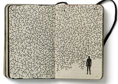 Pep Carrió's sketchbook (2009) Each year, Pep Carrió makes a sort of sketchbook collection of hundreds of illustrations which he creates in his yearly agendas. This way he develops a sort of personal diary that, in many cases have been the base inspiration for the professional work of this designer.: