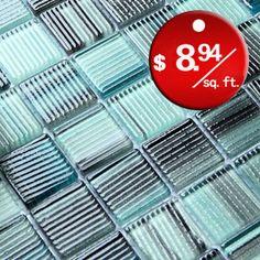 Beautiful Crystal Glass tile for Bathroom Wall Tiles and Kitchen backsplash - Sku: COB0038 ︳BuilderElements.com