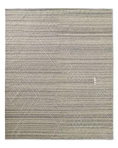 Sarto Embroidered Flatweave Rug - Grey