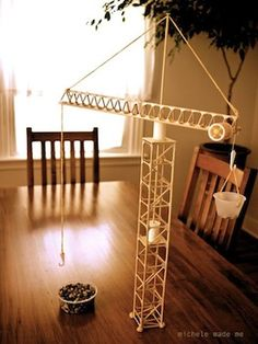 This might be an interesting way to approach a discussion about architecture and simple machines. Plus, how cool would it be to make a working crane!