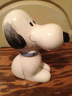 1968 Italian Peanuts Snoopy Bank