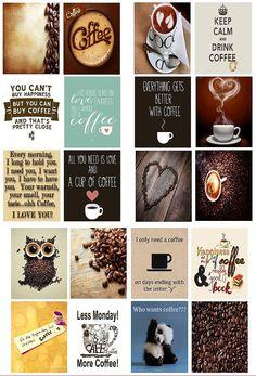 Pre-Cut Coffee Stickers for Erin Condren Life by PhiaSticks