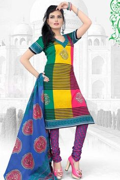 Maize Yellow and Pine Green Cotton Printed Casual Churidar Kameez Sku Code:372-4645SL314613 US $ 23.00	 http://www.sareez.com/product_info.php?products_id=155855