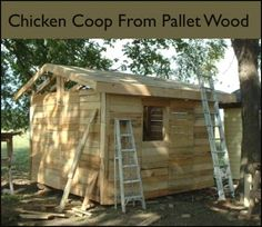 Make A Backyard Chicken Coop From Free Pallets...http://homestead-and-survival.com/make-a-backyard-chicken-coop-from-free-pallets/
