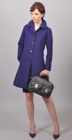 Vian Hunter Oliva Coat in Periwinkle. Vian Hunter is one of my fave stores, on same block as Fury, another one of my fave stores.