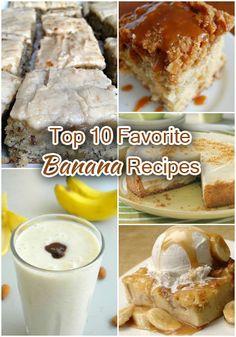 Top 10 Favorite Banana Recipes: For all those overripe bananas I shove in the freezer for greatness later! Pie Dessert, Eat Dessert First, Dessert Recipes, Banana Recipes, My Recipes, Sweet Recipes, Yummy Treats, Sweet Treats, My Favorite Food