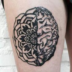 mózgomandala dla Kasi :) #warsawink #tattoo #tattooartist #tattooedgirls…