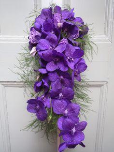 Purple Vanda Orchid shower bouquet....