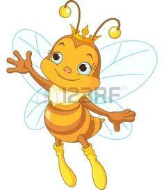 abeja caricatura: Ilustración de una reina abeja linda presentadora