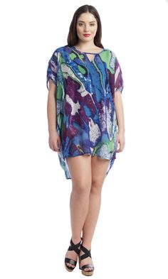 Abstract Marble Swim Cover Up