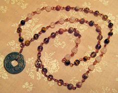 15 African Roar Tiger Eye Smoky Quartz Rose by JuliaLouiseShop, $15.00