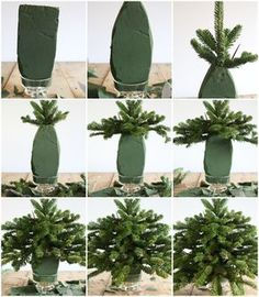Craftberry Bush | Tabletop Christmas Tree Using Free Clippings | http://www.craftberrybush.com