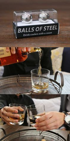 PERFECT gift idea for the whiskey drinker in your life. Balls of Steel make those stones look silly with cooler whiskey temperatures and longevity.