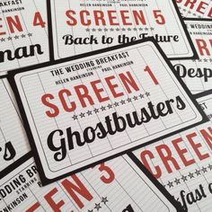 movie cinema film themed wedding table name signs by designedbyjoe on etsy https - Watch Halloween 5 Online Free Full Movie