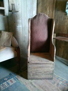 Christmas Hairstyles For Women Key: 9834838120 Primitive Living Room, Primitive Furniture, Primitive Antiques, Country Furniture, Primitive Crafts, Solid Wood Furniture, Sticks Furniture, Furniture Ideas, Balcony Table And Chairs