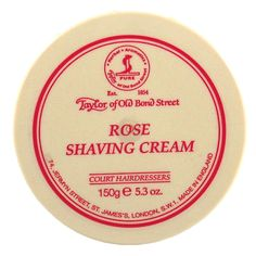 Taylor of Old Bond Street shaving cream - Rose