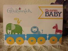 Baby- & Geburtskarten - Karte zur Geburt - Tierparade - Glückwunsch Baby - ein Designerstück von kreativesherzerl bei DaWanda