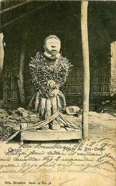 Fétiche du Bas-Congo - Congo 1904 Religion In Africa, Kingdom Of Kongo, African Figurines, Afrique Art, Art Tribal, Spiritual Images, African Sculptures, Yoruba, Art Premier