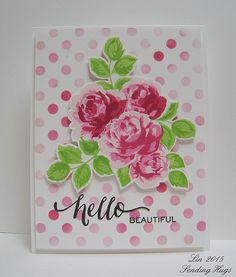circle stencil, vintage roses: altenew, try sweet life, Sending Hugs