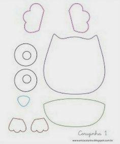 Patrones de lechuzas de tela para imprimir ~ Portal de Manualidades