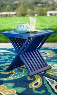 Foldable, affordable, and adorable – our Farrah Folding Table solves the conundrum of where to rest that drink, book or your glasses.