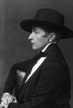 Author ( the Well of Loneliness- lesbian classic) -and all around bad ass dame Radclyffe Hall.