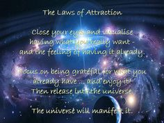 Law of attraction - the deep feeling of the gratitude of having received your hearts desire.