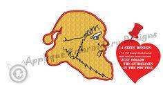 Santa Applique Embroidery Design-Christmas Embroidery-Santa
