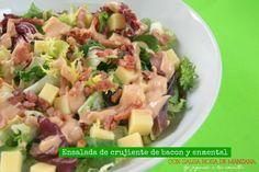 Jugando a las cocinitas: ENSALADA CON CRUJIENTE DE BACON, ENMENTAL y salsa ...
