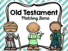 This is a great review of important people in the Old Testament.  There are 2 ways to use the cards--Students match the picture card to the correct descriptionorPrint 2 sets and create a memory game.I hope this helps students review and remember key people and events in the Old Testament :)