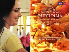 Live Gurupuja with Bhanu didi on July 9, 2016, 7 PM IST #Gurupurnima2016 #artofliving