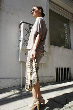 Beige Tunic Top / Asymmetrical Long Dress/ Drape Dress by Aakasha, $69.00