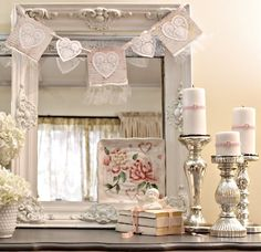 Shabby chic with hearts
