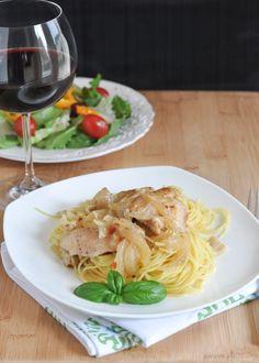 Lemon-Garlic Chicken Thighs {Slow Cooker Recipe}