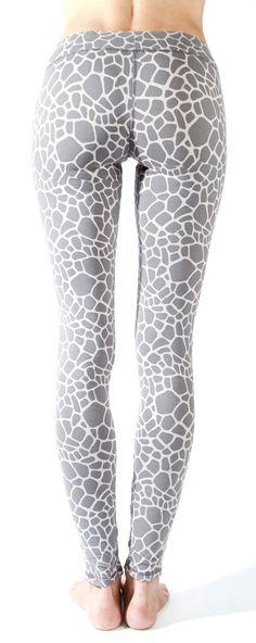 1aabb25254c737 Giraffe Grey Leggings Tight. Grey Baby Giraffe Leggings - Yoga Tights FUNKY  ...