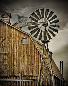 It wouldn't be country living without a wind mill!