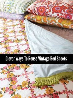 A lot of craft projects you can do at home will require various materials. Making homemade crafts is an ideal way you can reuse vintage bed sheets at home.