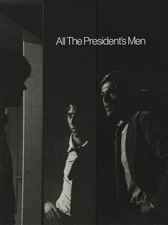 Poster Design for All The President's Men (Alan J. Pakula, 1976)