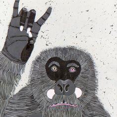 Gorilla by jenniferdavis on Etsy, $550.00