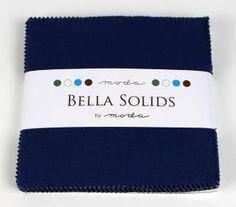 Bella Solids/Navy Charm Pack/Moda/Precuts by SewFabricDeals, $7.00