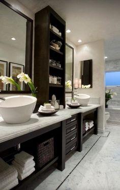 Badezimmer Gestalten Ideen Waschbeckenschrank
