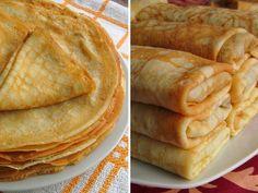Простые тонкие блины (для фарширования и блинных тортов). Ингредиенты:      6 яиц     750 мл. молока     150 гр. муки     1-1,5 ст.л. сахара     1/2 ч.л. соли     ваниль по вкусу (по желанию, если блины будут с несладкой начинкой, то не нужно добавлять)     3-4 ст.л. растительного масла