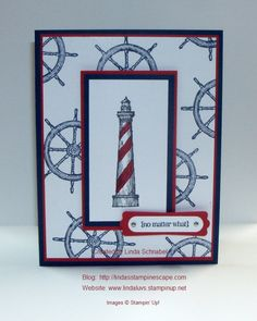 "Hello Stampin' Friends, As promised, I am back with a card share from the ""From Land to Sea"" stamp set. I think this is a very versatile set, but one look at the lighthouse and I …"